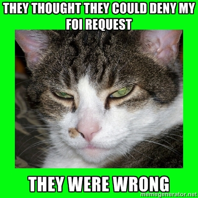 FOIA Cat Strikes Again