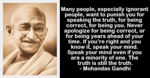 Gandhi on truth.